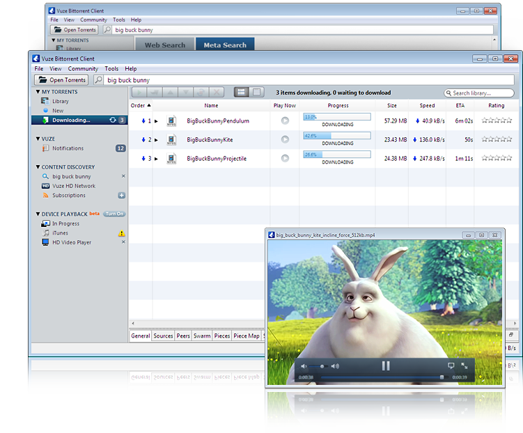 Vuze freeware screenshot