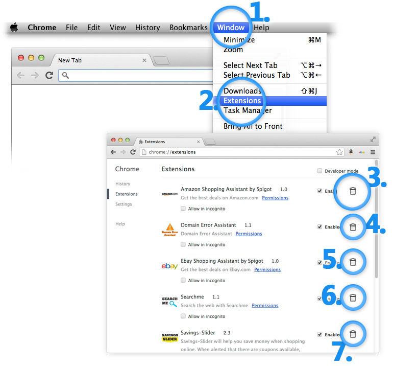 Uninstall Vuze Mac Extensions from Google Chrome