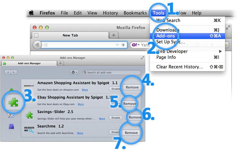 Uninstall Vuze Mac Extensions from Firefox